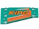 Part No: 18945pb006R  Name: Technic, Panel Plate 5 x 11 x 1 Tapered with Orange Stripes and 'KiNG' Pattern Model Right Side (Sticker) - Set 42117