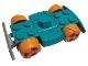 Part No: 30558c06  Name: Vehicle, Base 4 x 6 Racer Base with Orange Wheels