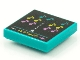 Part No: 3068bpb1535  Name: Tile 2 x 2 with Groove with BeatBit Album Cover - Music Notes in Space Invaders-Style Pattern