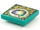 Part No: 3068bpb1544  Name: Tile 2 x 2 with Groove with BeatBit Album Cover - Space Helmet with Pastel Explosion Pattern