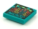 Part No: 3068bpb1612  Name: Tile 2 x 2 with Groove with BeatBit Album Cover - Red, Yellow and Dark Turquoise Dots Pattern