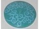 Part No: 3960pb041  Name: Dish 4 x 4 Inverted (Radar) with Solid Stud with Sand Blue Swirls Pattern