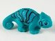 Part No: 57763pb02  Name: Chameleon with Black and Bright Light Blue Stripes Pattern