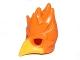 Part No: 16656pb04  Name: Minifigure, Headgear Mask Bird (Phoenix) with Yellow Beak Pattern
