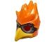 Part No: 16656pb05  Name: Minifigure, Headgear Mask Bird (Phoenix) with Yellow Beak and Dark Bluish Gray Goggles Pattern