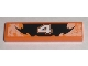 Part No: 2431pb134  Name: Tile 1 x 4 with Number 4 Orange and Black Decorative Pattern (Sticker) - Set 8211