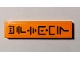 Part No: 2431pb623  Name: Tile 1 x 4 with Black Ninjago Logogram 'UPTOWN' on Orange Background Pattern (Sticker) - Set 70607