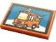 Part No: 26603pb119  Name: Tile 2 x 3 with Orange Van Pattern (Sticker) - Set 21324