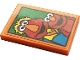 Part No: 26603pb120  Name: Tile 2 x 3 with Elmo and Louie on Green Background Pattern (Sticker) - Set 21324