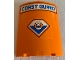 Part No: 30562pb052  Name: Cylinder Quarter 4 x 4 x 6 with 'COAST GUARD' and Logo Pattern (Stickers) - Set 4210