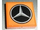 Part No: 3068bpb0624  Name: Tile 2 x 2 with Groove with Mercedes-Benz Logo Pattern (Sticker) - Set 8110