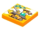 Part No: 3068bpb1770  Name: Tile 2 x 2 with Groove with BeatBit Album Cover - Pirate Firing Cannon Pattern