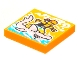 Part No: 3068bpb1772  Name: Tile 2 x 2 with Groove with BeatBit Album Cover - Pirate Surfing on Hammerhead Shark Pattern