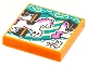 Part No: 3068bpb1780  Name: Tile 2 x 2 with Groove with BeatBit Album Cover - Carousel Horse Pattern