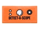 Part No: 3069bpb0452  Name: Tile 1 x 2 with Groove with Round Buttons and 'DETECT-A-SCOPE' Pattern (Sticker) - Set 76052
