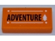 Part No: 3069bpb0896  Name: Tile 1 x 2 with Groove with 'ADVENTURE' and White Tree Pattern (Sticker) - Set 41339