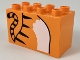 Part No: 31111pb042  Name: Duplo, Brick 2 x 4 x 2 with Tiger Body and Tail Pattern