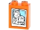 Part No: 3245cpb027  Name: Brick 1 x 2 x 2 with Inside Stud Holder with Female and Boy Minifigure Photograph Pattern (Sticker) - Set 60036