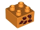 Part No: 3437pb069  Name: Duplo, Brick 2 x 2 with 5 Ladybugs Pattern