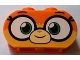 Part No: 35477pb001  Name: Brick, Modified 1 x 3 with Round Ends with Large Eyes and Smile Pattern (Dr. Fox / Unikitty)