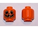 Part No: 3626cpb2485  Name: Minifigure, Head Pumpkin Jack O' Lantern with Yellow Outlines Pattern (BAM) - Hollow Stud