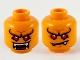 Part No: 3626cpb2704  Name: Minifigure, Head Dual Sided Alien, Pronounced Brow, Red Eyes, White Fangs, Wide Open Mouth / Lopsided Frown Pattern - Hollow Stud