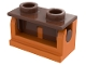 Part No: 3937c12  Name: Hinge Brick 1 x 2 Base with Reddish Brown Hinge Brick 1 x 2 Top (3937 / 3938)