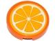 Part No: 4150pb158  Name: Tile, Round 2 x 2 with Orange Fruit Slice Pattern (Sticker) - Set 41035