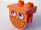 Part No: 42236px1  Name: Duplo, Plate 1 x 2 with Overhang with Eyes and Smile Pattern (Dizzy Front)
