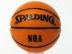 Part No: 43702pb01  Name: Ball, Sports Basketball with 'SPALDING' and 'NBA' Pattern