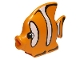 Part No: 43850pb01  Name: Duplo Butterfly Fish with Black Outlined White Stripes Pattern