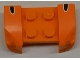Part No: 44674pb19  Name: Vehicle, Mudguard 2 x 4 with Headlights Overhang with Black Dot White Outlined on Orange Background on Both Sides Pattern (Stickers) - Set 8125