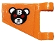 Part No: 44676pb046R  Name: Flag 2 x 2 Trapezoid with Bane Teddy Bear Head with Silver Letter B and Red Eyes Pattern Model Right Side (Sticker) - Set 70914