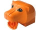 Part No: 44789c01pb01  Name: Duplo Figure Head Animal 2 x 2 Base Lion Head with Opening Mouth and Black and White Eyes Pattern