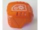 Part No: 44790pb02  Name: Sports Hockey Helmet with 2 White Gears Pattern (Sticker) - Set 7708