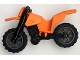 Part No: 50860c12  Name: Motorcycle Dirt Bike with Black Chassis (Long Fairing Mounts) and Dark Bluish Gray Wheels