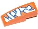 Part No: 50950pb071  Name: Slope, Curved 3 x 1 No Studs with Blue and White Graffiti Tag Pattern (Sticker) - Set 70808