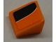 Part No: 54200pb035L  Name: Slope 30 1 x 1 x 2/3 with White Line on Orange and Black Pattern Model Left (Sticker) - Set 8125