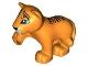 Part No: 54300cx4  Name: Duplo Tiger Baby Cub, Raised Paw