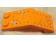 Part No: 6070pb024  Name: Windscreen 5 x 2 x 1 2/3 with Rivets and Silver Smudges on Orange Background Pattern (Stickers) - Set 70914