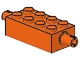 Part No: 6249  Name: Brick, Modified 2 x 4 with Pins