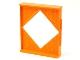 Part No: 6904  Name: Scala Wall, Diamond Shaped Window 8 x 2 x 8