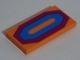 Part No: 87079pb0275  Name: Tile 2 x 4 with Magenta and Medium Azure Octagonal Carpet Pattern (Sticker) - Set 71006