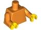 Part No: 973c04  Name: Torso Plain / Orange Arms / Yellow Hands