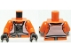 Part No: 973pb0624c01  Name: Torso SW Rebel Pilot with Printed Back Pattern / Orange Arms / Black Hands