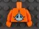 Part No: 973pb0751c01  Name: Torso LEGO Universe Nexus Astronaut Pattern / Orange Arms / Orange Hands
