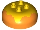 Part No: 98220pb07  Name: Duplo, Brick Round 4 x 4 Dome Top with 2 x 2 Studs and Marbled Yellow Pattern