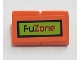 Part No: BA136pb05  Name: Stickered Assembly 2 x 1 x 2/3 with 'FuZone' on Lime Background with Black Border Pattern (Sticker) - Set 8125 - 2 Slope 30 1 x 1 x 2/3