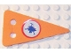 Part No: bb0326pb01  Name: Foam, Scala Flag Triangular with Cracked Ice Pattern (Sticker) on Both Sides - Set 3148
