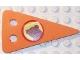 Part No: bb0326pb02  Name: Foam, Scala Flag Triangular with Bear Head Pattern (Sticker) on Both Sides - Set 3148